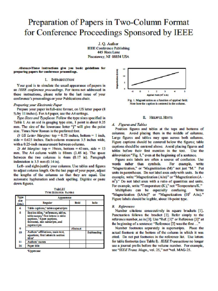 ieee paper presentation format